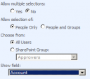 Sharepoint People or Group Settings
